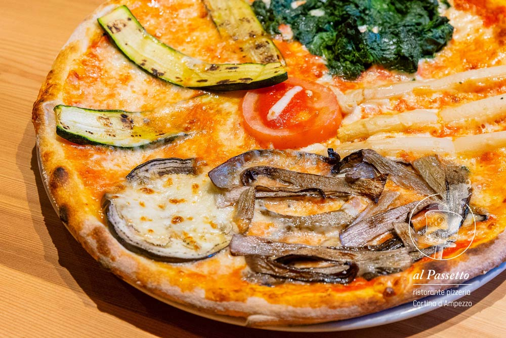 Pizza alle verdure alla griglia